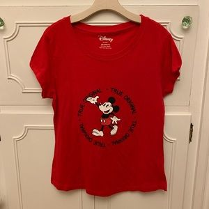 Disney Red Mickey Mouse T Shirt